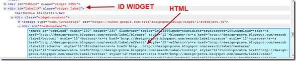 firebug id e html widget