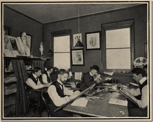 Výtvarné oddělení agentury Bates (1905)