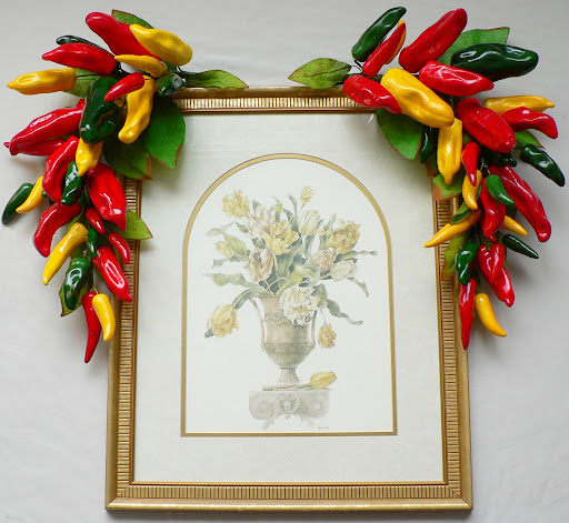Red Green Yellow Chili Pepper Swag Kitchen Decor Ebay
