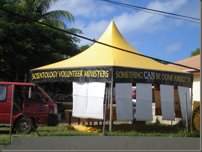 Scientology Tent in Neiafu