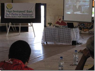 Tongans watching TDB Video in Neiafu