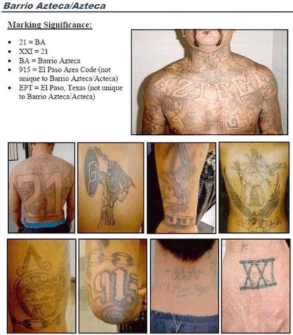 Latino prison gangs mexican hispanic gang tattoos for Mexican prison tattoos