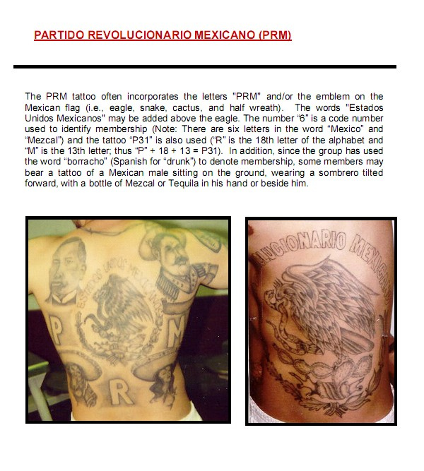 latino prison gangs mexicanhispanic gang tattoos