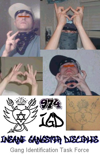 GD Hand signs http://whiteprisongangs.blogspot.com/2009/06/insane-gangster-disciples.html