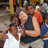 Missionary Tia Gayle with Children