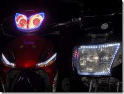 teknologi modifikasi untuk mempercantik lampu motor anda