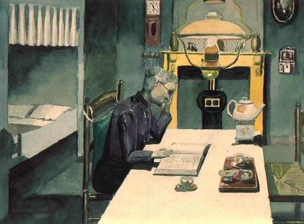 Het werk van dirk mooij 1900 1960 interieur met grootmoeder for Interieur 1900