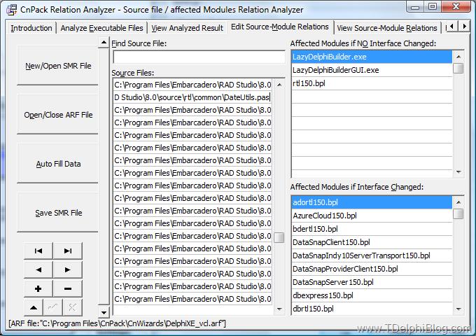 Анализ зависимостей на основании списка исходных файлов
