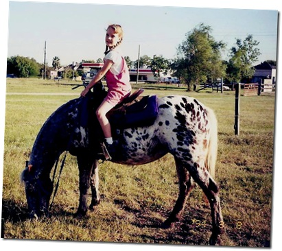 Rebekah's first horse ride