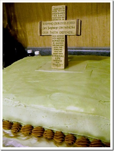 Cake with Stone Cross