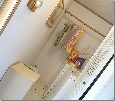 narrow laundry room