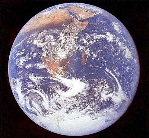 La Tierra, fotografiada desde el Apolo 17
