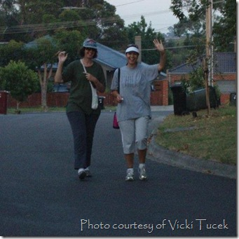 Vicki and G walking
