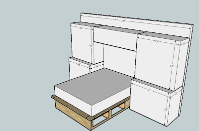 Bedroom Wall Unit on Bedroom Wall Unit  2  Platform Bed Design Initial Ideas   By