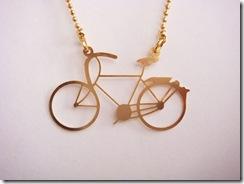 Colar Bike Dourado