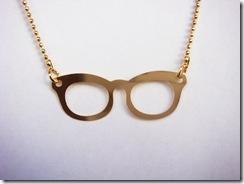 Colar Oculos Dourado
