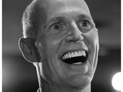 Rick Scott thinking about eating poor people