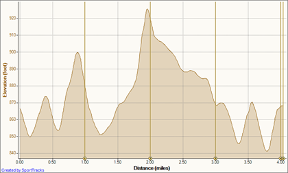 9 Aug 10 - Trip 2 8-9-2010, Elevation - Distance