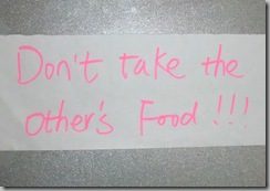 Dont take other's food!