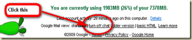 """turn off chat"" link on your gmail screen"