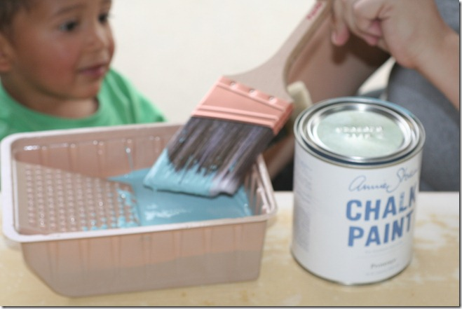 painting with Annie Sloan Chalk Paint (4)