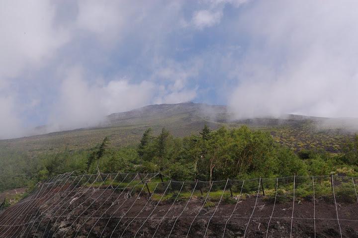 富士宮五合目から富士山山頂の写真