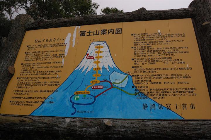 富士山の案内図の写真