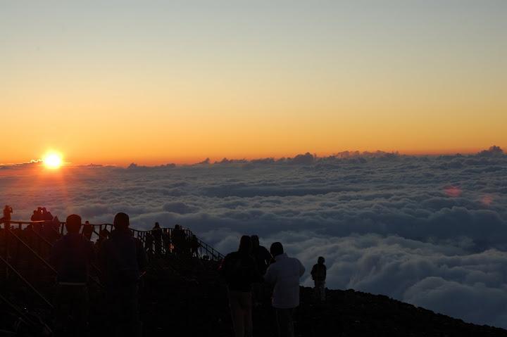 富士山御来光の写真