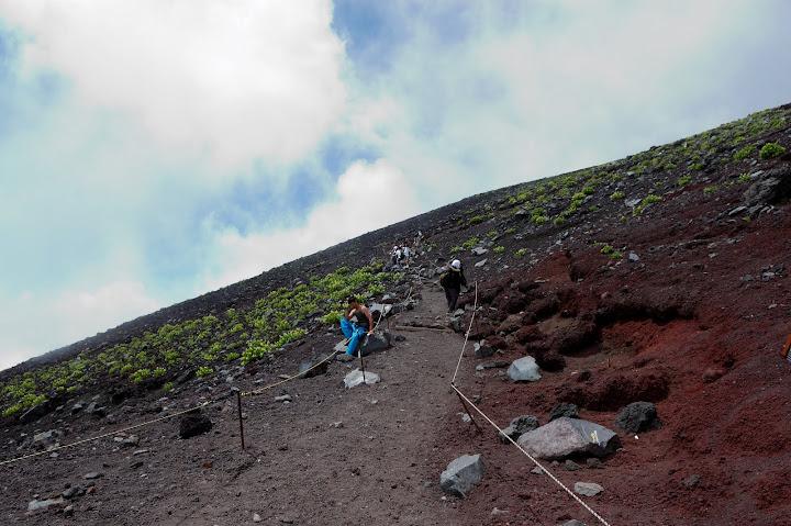 元祖七合目からの登山道の写真