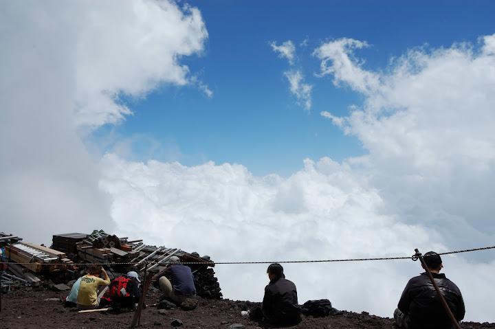 富士宮口元祖七合目から見る雲海の写真