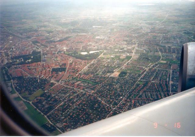 コペンハーゲン飛行機から