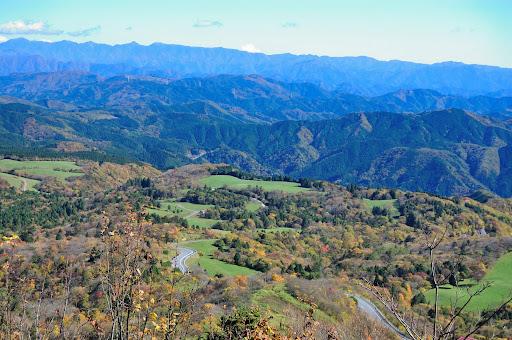 茶臼山高原の紅葉の写真