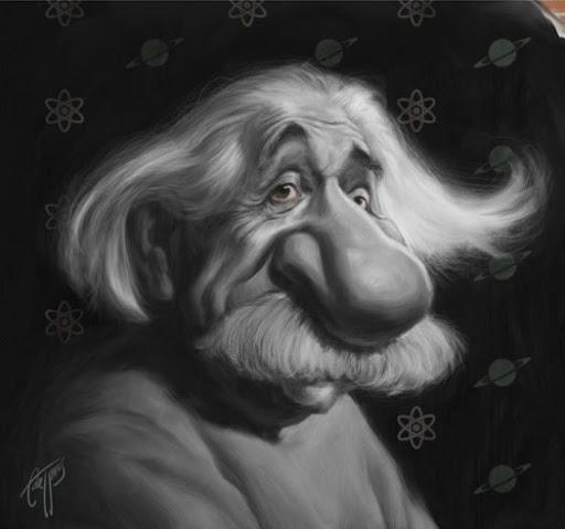 Шарж на Альберта Эйнштейна
