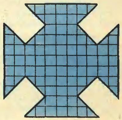 Головоломка на разрезание: разрежьте фигуру на 5 частей и сложите квадрат