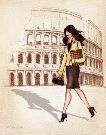 Загадка - По какому городу гуляет девушка?