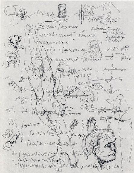 Страничка из рабочего блокнота Ричарда Фейнмана
