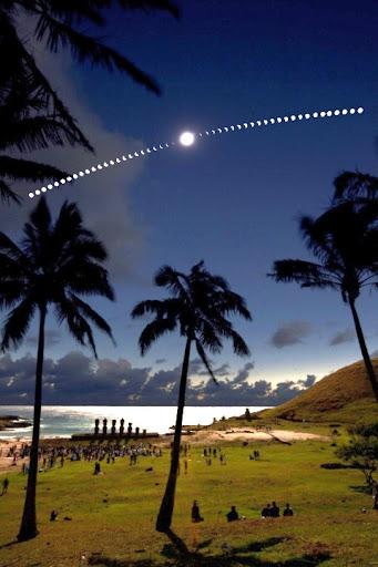 Солнечное затмение на острове Пасхи