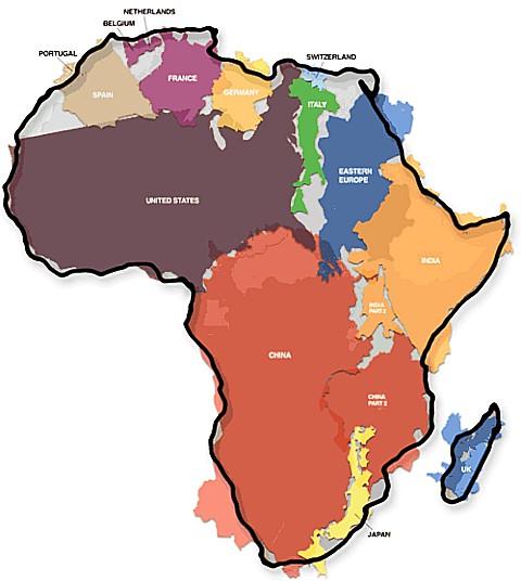 Как велика Африка...