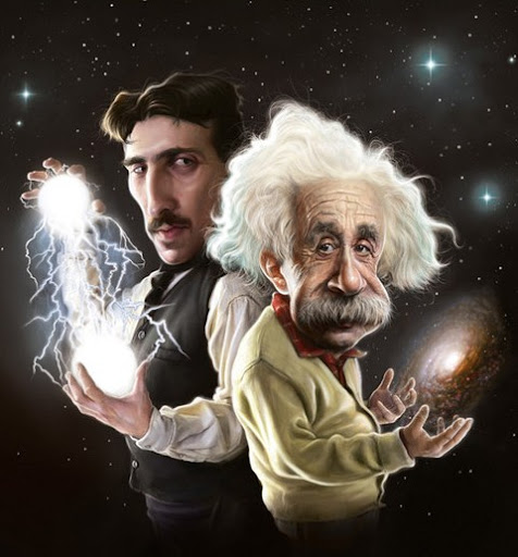 С Новым 2011 годом! Эйнштейн и Тесла
