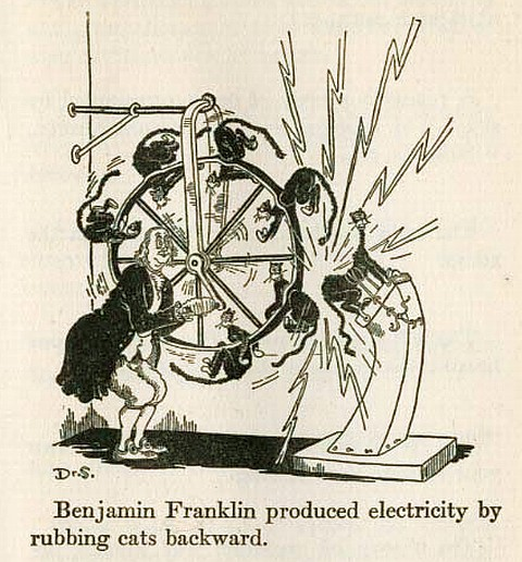 Бенджамен Франклин изучает электричество