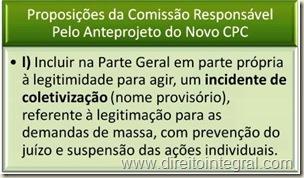 Anteprojeto do Novo Código de Processo Civil - Incidente de Coletiviação.