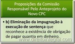Novo CPC - Eliminação da Impugnação à Execução de Sentença.