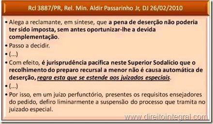 Possibilidade de Complementação do Preparo Recursal Feito a Menor, nos Juizados Especiais Estaduais. Plausibilidade da Tese Reconhecida na Rcl 3887/PR