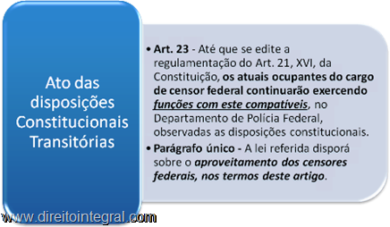ADCT - Artigo 23, parágrafo único