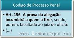 Código de Processo Penal - Art. 156 - Ônus da prova da alegação.