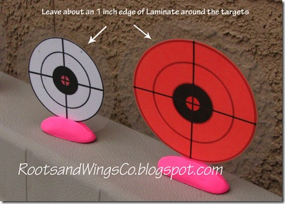Targets for Marshmallow shooters