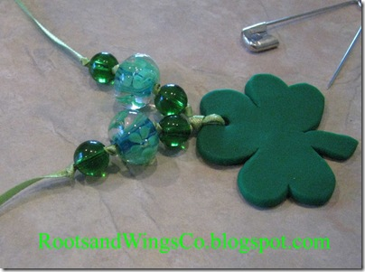 st patricks day necklace fimo clay