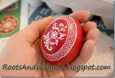 final step in decorative egg