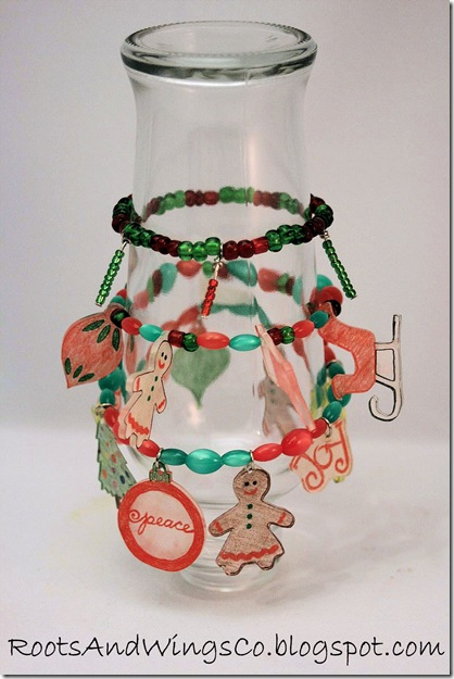 shrinky dink christmas bracelet 9i