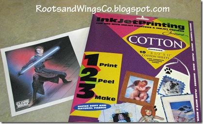 1 print out image on printable fabric sheets